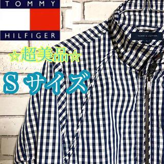 TOMMY HILFIGER - 【レア】トミーヒルフィガー刺繍ロゴ チェック柄 ブルゾン スウィングトップ S