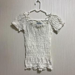 ティティアンドコー(titty&co)のtitty&Co.    シャーリングトップス 半袖 カットソー F(カットソー(半袖/袖なし))