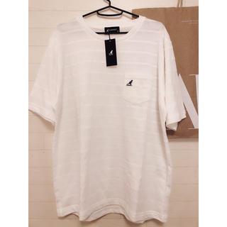 カンゴール(KANGOL)の新品 LL/カンゴール KANGOL メッシュ 刺繍Tシャツ ホワイト(Tシャツ/カットソー(半袖/袖なし))