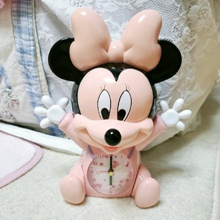 ディズニー(Disney)のベビーミニー 時計(置時計)