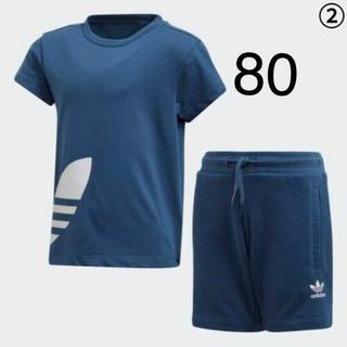 アディダス(adidas)の新品!完売サイズ!アディダス半袖セットアップ80cm(Tシャツ)