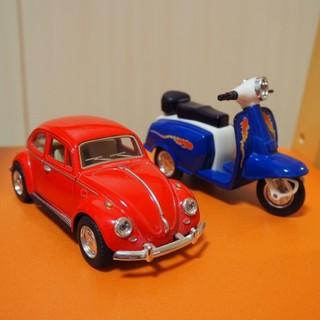フォルクスワーゲン(Volkswagen)のミニカー(Volkswagen Beetle)&スクーター(SUNNY)(ミニカー)
