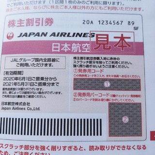 JAL(日本航空) - 日本航空JAL株主優待券 1枚