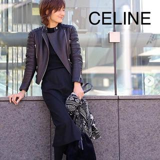 セリーヌ(celine)のセリーヌ シープスキン ライダース バイカージャケット(ライダースジャケット)