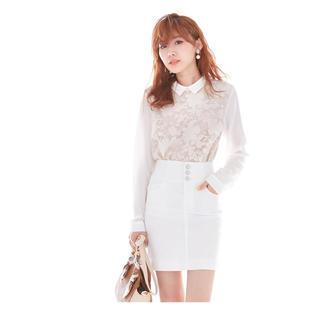 ユメテンボウ(夢展望)の新品未使用♡激ストレッチ タイトスカート【ホワイト】(ミニスカート)