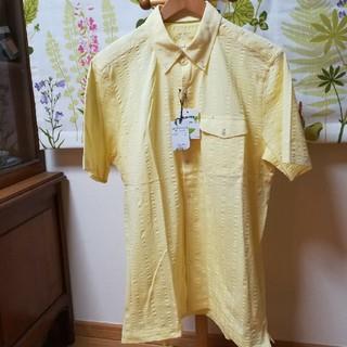 イルファーロバイルチアーノバルベラ(ILFARO by LUCIANO BARBERA)の✨ilfaro イルファーロ 黄色の半袖シャツLサイズ(シャツ)