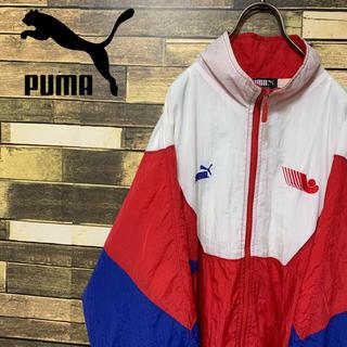 プーマ(PUMA)の90's  プーマ Ontario トリコロール ナイロンジャケット 激レア(ナイロンジャケット)