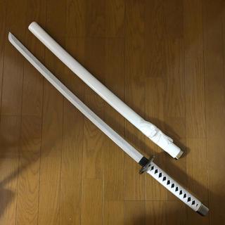 模造刀 刀 日本刀 刀剣 コスプレ 白 巾着 青 ネイビー 和風 日本 武士(小道具)