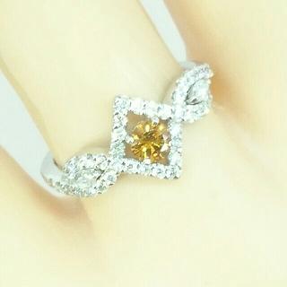 Pt900  オレンジダイヤモンド×ダイヤモンド リング(リング(指輪))