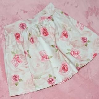 マーズ(MA*RS)のMA*RS♡バラ柄スカート ピンク(ミニスカート)
