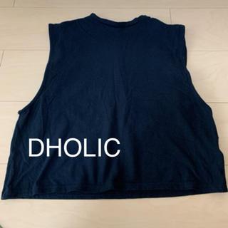 ディーホリック(dholic)のDHOLIC 肌見せ タンクトップ ブラック(Tシャツ(半袖/袖なし))