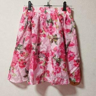 マーズ(MA*RS)の【新品タグ付】MA*RS♡花柄スカート ピンク(ミニスカート)