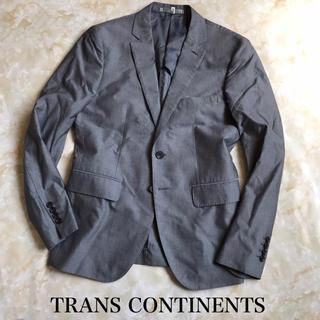 トランスコンチネンツ(TRANS CONTINENTS)の良品 トランスコンチネンツ コットン ジャケット グレー(テーラードジャケット)
