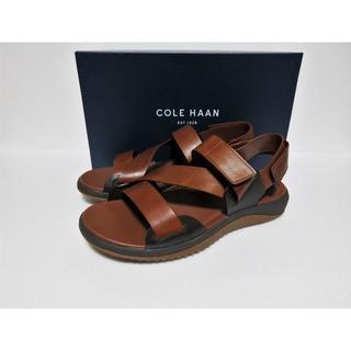 コールハーン(Cole Haan)の新品 COLE HAAN ゼログランド ストラップ レザー サンダル 9 (サンダル)