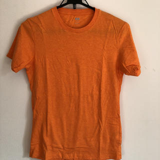 ユニクロ(UNIQLO)のユニクロ Tシャツ  ボーダー&オレンジ S(Tシャツ/カットソー(半袖/袖なし))