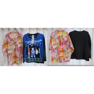 スカラー(ScoLar)のまとめ売り☆スカラー scolar 洋服6点+トートバッグ黒(Tシャツ(長袖/七分))