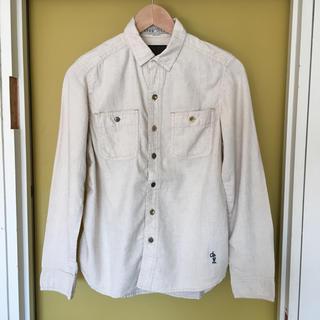 キューブシュガー(CUBE SUGAR)のCube sugar   綿麻ワークシャツ(ナチュラル)(シャツ/ブラウス(長袖/七分))