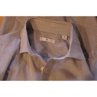 ジルサンダー(Jil Sander)のJIL SANDER×UNIQLO■長袖チェックシャツ▼Sサイズ♪ブルー系☆美品(シャツ)