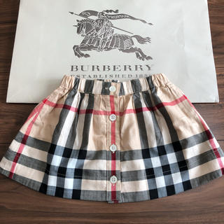 バーバリー(BURBERRY)の美品♡BURBERRY♡チェックスカート♡80(スカート)