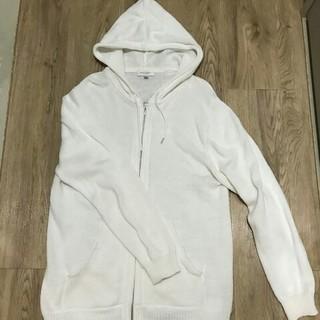 ビューティアンドユースユナイテッドアローズ(BEAUTY&YOUTH UNITED ARROWS)のユナイテッドアローズ 綿編みパーカー Lサイズ ホワイト(パーカー)