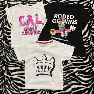 ロデオクラウンズ(RODEO CROWNS)の女の子 ロデオクラウンズ 3点セット(Tシャツ/カットソー)