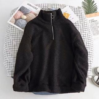 dholic - 韓国ファッション もこもこパーカー ゆったり目サイズ ビッグサイズ ブラック