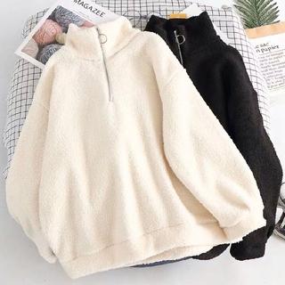 dholic - 韓国ファッション もこもこパーカー ゆったり目サイズ ビッグサイズ ホワイト