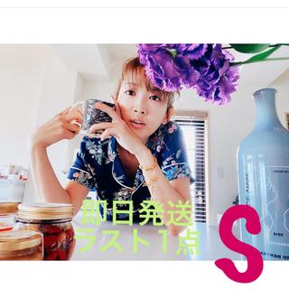 ケイタマルヤマ(KEITA MARUYAMA TOKYO PARIS)のケイタマルヤマ GU コラボ パジャマ  Sサイズ 花柄 ネイビー(パジャマ)