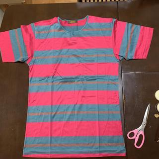 アラミス(Aramis)の美品 アラミス 半袖シャツ M  渋いピンク・グレー(Tシャツ/カットソー(半袖/袖なし))