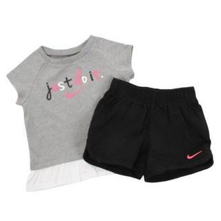 ナイキ(NIKE)の新品未使用♡NIKEセットアップ80cm♡ナイキTシャツショートパンツグレー黒(Tシャツ)
