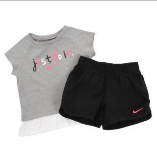 ナイキ(NIKE)の新品未使用♡NIKEセットアップ85cm♡ナイキTシャツショートパンツグレー黒(Tシャツ)
