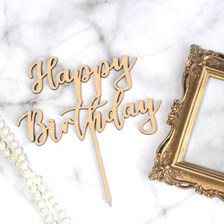 【いいい 様】ケーキトッパー Happy Birthday & Half(その他)