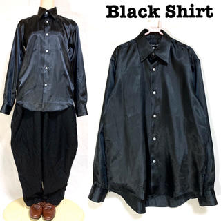グリモワール(Grimoire)の日本製 ツヤ感 ポリシャツ 長袖 モード uenoya(シャツ)