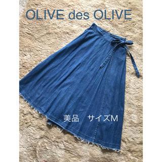 オリーブデオリーブ(OLIVEdesOLIVE)の美品 olive des olive ロングデニムスカート(ロングスカート)