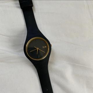 アイスウォッチ(ice watch)のicewatch ブラック+ゴールド(腕時計)