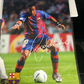 FCバルセロナ バルサ ロナウジーニョ  下敷き ブラジル代表サッカーフットサル(記念品/関連グッズ)