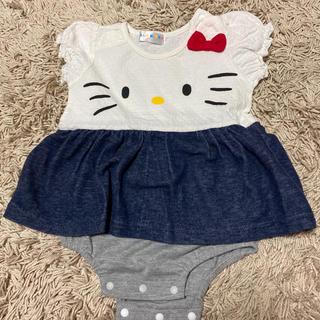 ハローキティ(ハローキティ)のHello kitty ロンパース スカート 80(ロンパース)