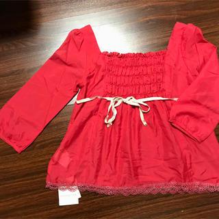 プロポーションボディドレッシング(PROPORTION BODY DRESSING)の☆プロポーションボディードレッシングチュニック赤新品(チュニック)