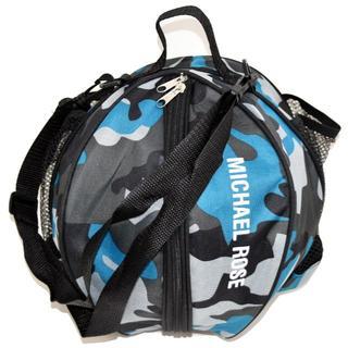 ボールバッグ 水色迷彩 バスケットボール サッカー 袋 ペットボトルホルダー(ボール)