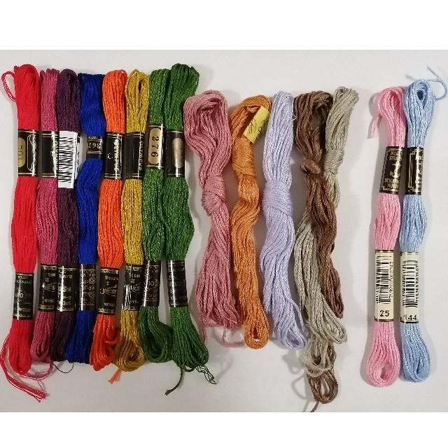 OLYMPUS(オリンパス)の刺繍糸 OLYMPUS他★14本15色★set  オリムパス他 25番 刺しゅう ハンドメイドの素材/材料(生地/糸)の商品写真
