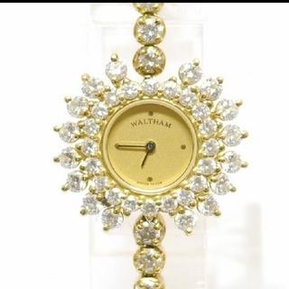 ウォルサム(Waltham)のWALTHAM[ウォルサム]鑑定済⭐️ダイヤモンド💎ブレスウォッチ✨K18♥️(腕時計)