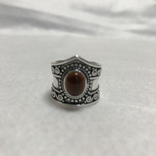 ストーンリング 17〜19号 合成石 ブラウンブラック(リング(指輪))