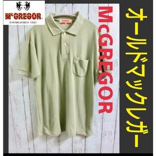 マックレガー(McGREGOR)のOLD McGREGOR オールド マックレガー 半袖 ポロシャツ 暗薄緑色(ポロシャツ)