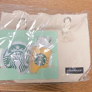 スターバックスコーヒー(Starbucks Coffee)の【新品】スタバの保冷バッグ(保冷剤付き)(トートバッグ)