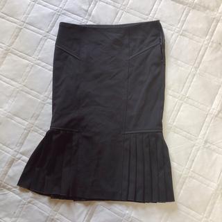 シトラスノーツ(CITRUS NOTES)のmamas様専用です^^ シトラスノーツ 上品スカート 上質 黒 部分プリーツ(ひざ丈スカート)