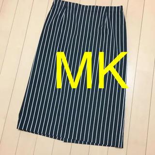 エムケーミッシェルクラン(MK MICHEL KLEIN)のミッシェルクラン紺ストライプタイトスカート(ひざ丈スカート)