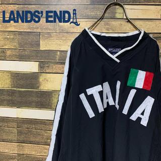 ランズエンド(LANDS'END)の90's LAND'S END ゆるだぼ イタリアプルオーバー  ロゴ刺繍激レア(ナイロンジャケット)