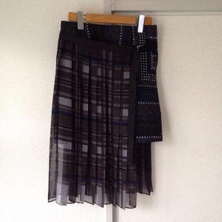 サカイ(sacai)のsacai プリーツ スカート 美品(ミニスカート)