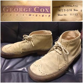 ジョージコックス(GEORGE COX)のジョージコックス送料込¥定価5万円程イギリス製レザー革ラバーソールウイングチップ(ブーツ)