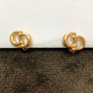 ディオール(Dior)の正規品 クリスチャンディオール イヤリング ロゴ ゴールド(イヤリング)